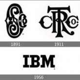 Эволюция логотипов компаний.