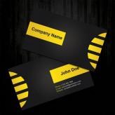 Профессиональные примеры применения желтого цвета — визитные карточки