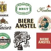 Векторные логотипы, эмблемы и этикетки зарубежного пива